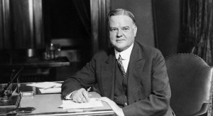Republican Presidential candiate Herbert Hoover is pictured at his desk in his Washington headquarters, 1928. (AP Photo)